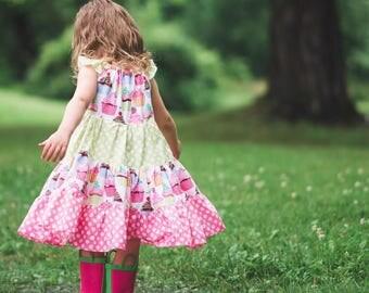 Girls Cupcake Dress- Girls Dress - Girls Birthday Dress - Girls Cupcake Sundress - Toddler Cupcake Dress - Girls Party Dress -Girls Birthday