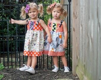 Girls Halloween Dress - Girls Dress- Girls Halloween Owl Outfit - Girls Halloween Outfit - Toddler Dress - Halloween Outfit -Halloween Dress