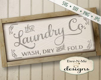 Laundry Co Sign SVG - laundry svg - Laundry room cut file - laundry room stencil - Commercial Use svg cut file -  svg, dxf, png, jpg