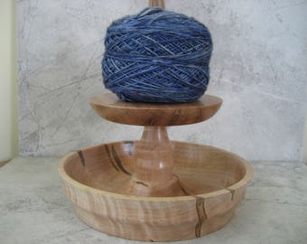 Knit Spinner with Bowl (Ambrosia Maple wood)