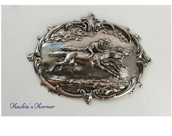 Horse Race Medallion #28, Medium