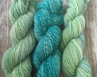 Handspun Polwarth and Sparkle BFL Yarn Set