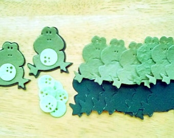 Frog Die Cuts, Textured mulberry paper, set of 8, self assembly