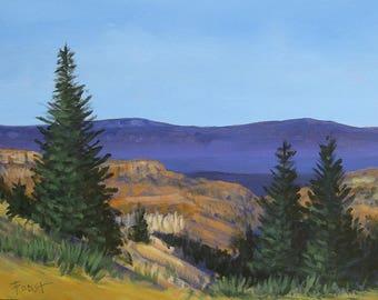 Southwest Canyon Landscape, Southwest Desert, 18 X 24, Foust, Original Landscape,