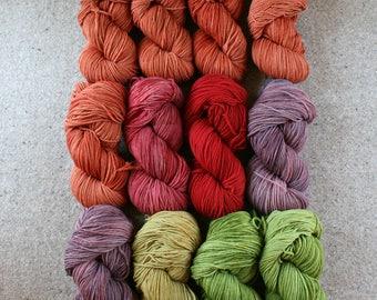 Sweater Weather Set of 12 skeins of Windham 100% US grown merino wool, 2640yds/2414m total