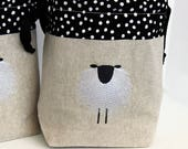 Custom Order Sue (Tymoon) Sheep Drawstring Knitting Project Bag