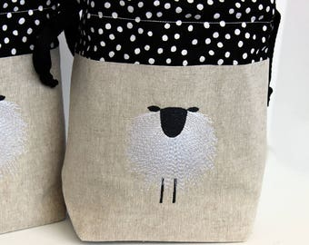 PRE-ORDER Drawstring Knitting Project Bag