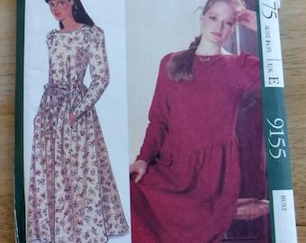 Laura Ashley naaien patroon, bescheiden jurk petticoat mist naaien vintage patroon 10 Uncut, jaren tachtig jaren negentig kleding naaien patroon