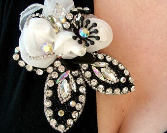 Old school glamour  - OOAK Brooch - Ready to ship xx