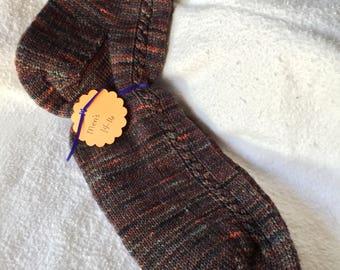 Handknit woolblend men's socks size 14-16