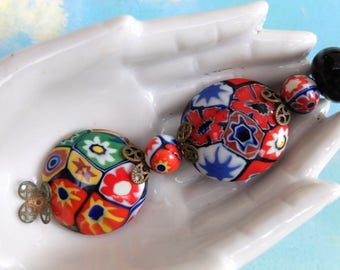 Vintage Beads Supply Mosaic Glass Millefiori