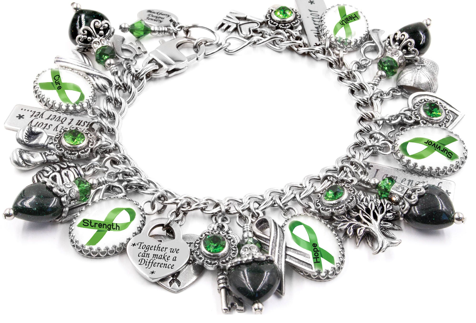 awareness unite and counseling the each which mental universal for bracelet health is to color united incorporates fighters symbol handcrafted green survivors giveaway