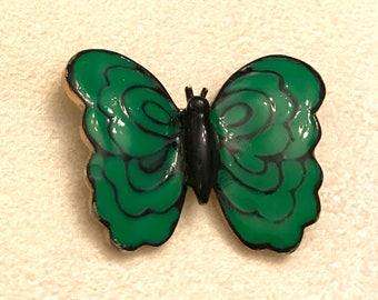 Vintage Eisenberg Green Enamel Butterfly Brooch