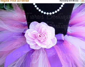 SUMMER SALE 20% OFF Baby Tutu - Sewn Tutu - Pink Purple Lavender Tutu - Berry Lovely - 8'' Pixie Tutu - Newborn to 12 months