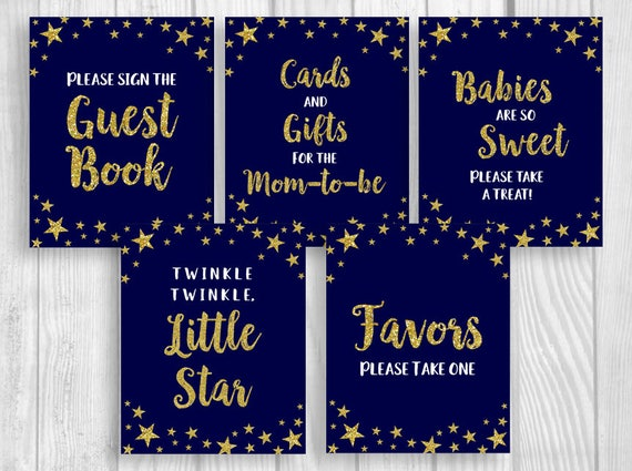 twinkle twinkle little star printable 8x10 baby shower sign