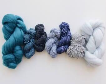 Fiber pack / Weaving Pack / Blues