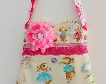 Happy Bunnie Rabbit  purse, girls purse, toddler purse,