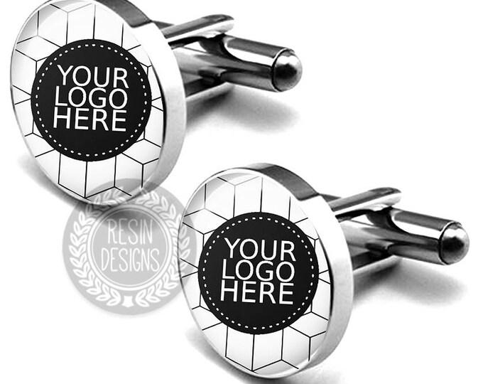 Logo Cufflinks, Personalized Company Logo Cufflinks, Custom Photo Cufflinks, Your Company Image, Gift for Him, Personalized Cufflinks