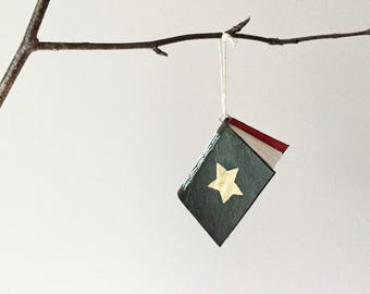 Christmas Wish Book - Tree Ornament - Paper Decoration - Bauble