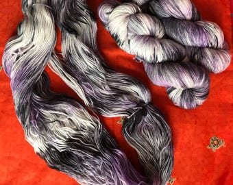 Hand-dyed yarn, Indie dyed yarn, hand dyed yarn WHISPER -- dyed to order -- Times Square sock weight merino/nylon yarn