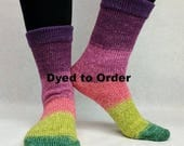 Just Beet It Panoramic Gradient Matching Socks Set Yarn, dyed to order - pick your size, pick your yarn base