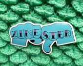 Zinester Knuckles - 9cm x 4.5cm vinyl sticker
