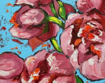 Floral painting 252 12x16 inch original still life oil painting by Roz