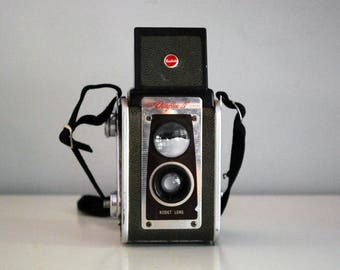 Kodak Duaflex IV, 1950s 620 Film Camera, TTV Viewfinder, Pseudo Twin Lens Reflex, Photo Equipment, Industrial Decor, Mid Century Camera