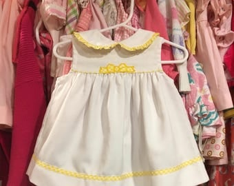 Yellow Gingham Dress 6/9 Months