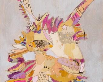 Llama Canvas Art Print by Jennifer Mercede 'Purpley Llama'