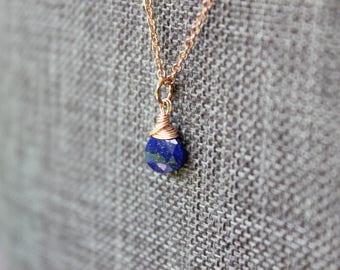 Lapis Lazuli Rose Gold Necklace