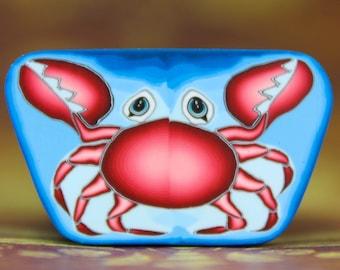 Large Crab Polymer Clay Cane- 'Deep Blue Sea' series (17bb)