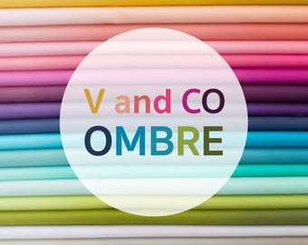 V and Co Ombre Fabric PARTIAL Bundle, 4.5x44 - from Moda Fabrics