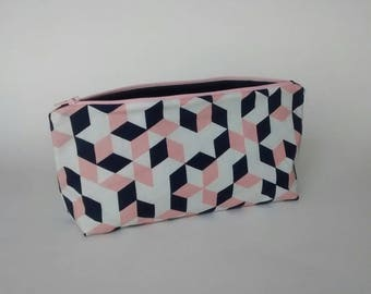 Geometric cubes - Zippered Pouch