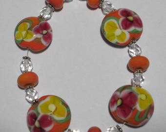 FiredDesires Studio Lampworked Beadset#153  Spring Delight