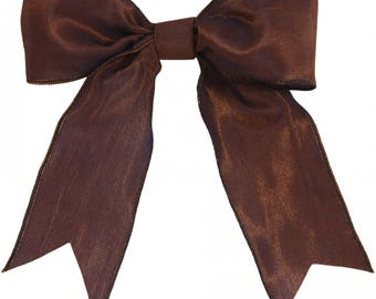 Wired Chocolate Ribbon, Imported from France, Luxury High End Ribbon, Midori Luxe Ribbon, Two Yards