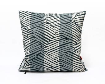 Mid Century Modern Pillow, Graphic Cushion Cover, Gray Pillow Case, Throw Pillow, Designer Pillow, Modern Home Decor Handmade by EllaOsix
