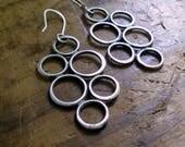 Sterling Silver Circles Hoop Earrings