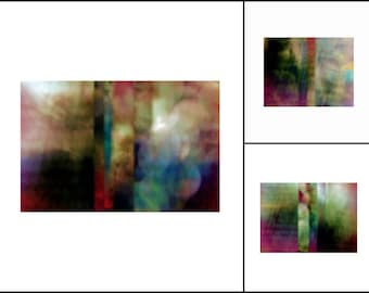 Autumn Ablaze ~ Bold Boho Style Abstract Color Photography Collection ~ Set of 3 ~ Original Photography by Suzanne MacCrone Rogers