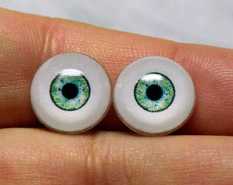 NEW COLOR! Doll eyes 12mm AD2 color Agave