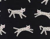 Cotton + Steel Fabric, Snow Leopard, C5115-001 Black Neon Pigment, 100% Unbleached Cotton