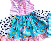 Toy Story Land dress Buzz Lightyear Woody Disney World outfit Pixar Fest Disneyland girls toddler dress