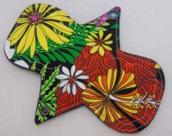 """7.25"""" Liner - Bright Tropical Floral - Reusable Cloth Menstrual Pad (7PLC)"""