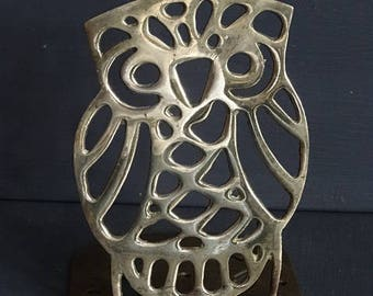 Brass Owl Bookend Book End
