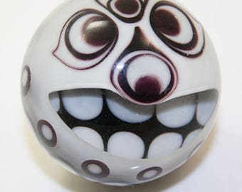 "Tiki Marble in Black and White  1 1/2"" Brad Pearson SRA"