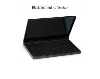 Ink Pad - By Trodat - Black Ink - For Use With Wood Handle Stamps - 3 Sizes Available - Ships in 2-3 Business Days (I416)