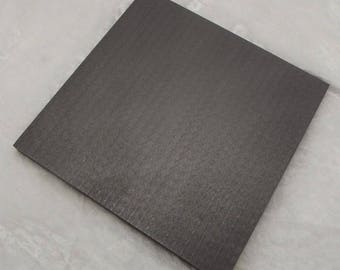 6 x 6 x 3/8 inch Graphite Pad For Hot Glass & Lampworking Marver Supplies