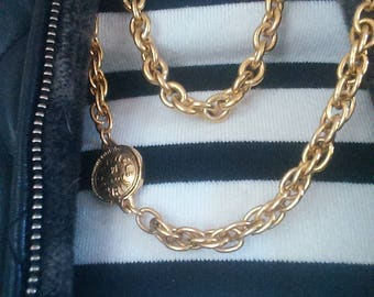 Vintage Chanel 31 Rue Cambon coin necklace.  Classic