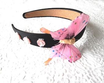 Thin butterfly headband, floral headbands for women, 1 inch headbands