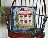 """Instant Downloaded, Pdf, """"BETSY ROSS FLAG"""" Patriotic Punch Needle Pattern  - #170516"""